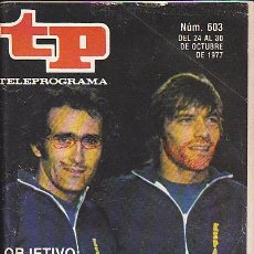 Coleccionismo de Revista Teleprograma: REVISTA TELEPROGRAMA Nº 603. Lote 36586313