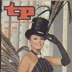Coleccionismo de Revista Teleprograma: REVISTA TELEPROGRAMA Nº 533. Lote 36611110