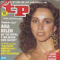 Coleccionismo de Revista Teleprograma: REVISTA TELEPROGRAMA Nº 1263 ANA BELEN. Lote 36833051