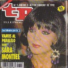 Coleccionismo de Revista Teleprograma: REVISTA TELEPROGRAMA Nº 1348 SARA MONTIEL. Lote 36833390