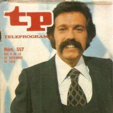 Coleccionismo de Revista Teleprograma: REVISTA TELEPROGRAMA Nº 557 IÑIGO. Lote 36932067