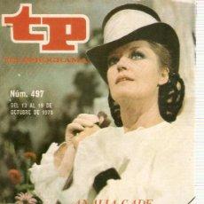 Coleccionismo de Revista Teleprograma: REVISTA TELEPROGRAMA Nº 497 ANALIA GADE LA PODRIGA. Lote 36937627