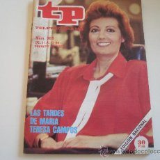 Coleccionismo de Revista Teleprograma: TELEPROGRAMA 984 MARIA TERESA CAMPOS. Lote 37093016