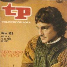 Coleccionismo de Revista Teleprograma: REVISTA TELEPROGRAMA Nº 523 LEONARDO DE VINCI. Lote 37030713