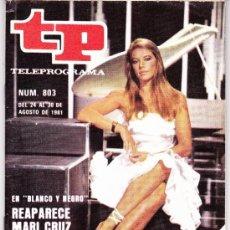 Coleccionismo de Revista Teleprograma: TELEPROGRAMA NUM 803 AGOSTO 1981. Lote 37088252