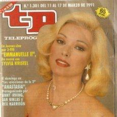 Coleccionismo de Revista Teleprograma: REVISTA TELEPROGRAMA Nº 1301 SILVIA TORTOSA. Lote 37235415