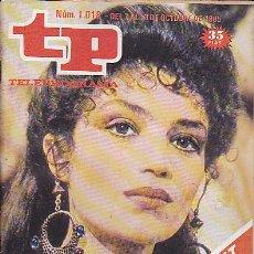 Coleccionismo de Revista Teleprograma: REVISTA TELEPROGRAMA Nº 1018 ANGELA MOLINA. Lote 37247815