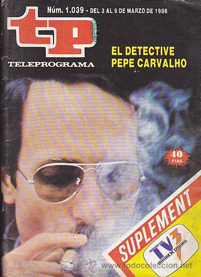 REVISTA TELEPROGRAMA Nº 1039 EL DETECTIVE CARVALHO (Coleccionismo - Revistas y Periódicos Modernos (a partir de 1.940) - Revista TP ( Teleprograma ))