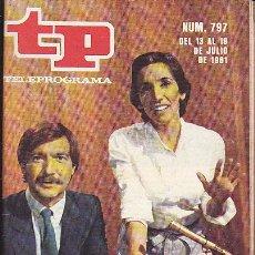 Coleccionismo de Revista Teleprograma: REVISTA TELEPROGRAMA Nº 797 . Lote 37248672