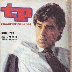Coleccionismo de Revista Teleprograma: REVISTA TELEPROGRAMA Nº 793 JESUS HERMIDA. Lote 37248676