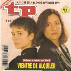 Coleccionismo de Revista Teleprograma: REVISTA TELEPROGRAMA Nº 1335 VIENTRE DE ALQUILER. Lote 37253282
