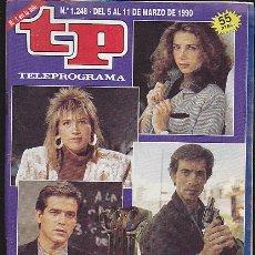 Coleccionismo de Revista Teleprograma: REVISTA TELEPROGRAMA Nº 1248 LOS MEJORES DE 1989. Lote 37312610