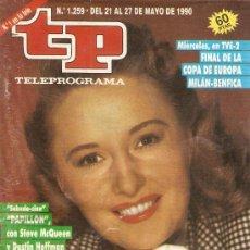 Coleccionismo de Revista Teleprograma: REVISTA TELEPROGRAMA Nº 1259 BARBARA STANWYCK. Lote 37314071