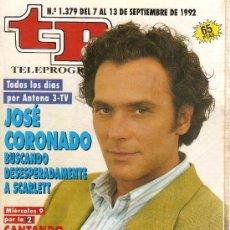 Coleccionismo de Revista Teleprograma: REVISTA TELEPROGRAMA Nº 1379 JOSE CORONADO. Lote 37314326