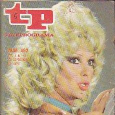 Coleccionismo de Revista Teleprograma: REVISTA TELEPROGRAMA Nº 492 MARUJITA DIAZ . Lote 37314823