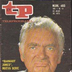 Coleccionismo de Revista Teleprograma: REVISTA TELEPROGRAMA Nº 483. Lote 37314849