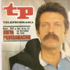 Coleccionismo de Revista Teleprograma: REVISTA TELEPROGRAMA Nº 654 FANTASTICO. Lote 37440525