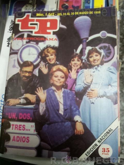 REVISTA TELEPROGRAMA TP NUMERO 1042 SEPTIEMBRE 1986 (Coleccionismo - Revistas y Periódicos Modernos (a partir de 1.940) - Revista TP ( Teleprograma ))