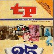 Coleccionismo de Revista Teleprograma: ESPECIAL REVISTA TP TELEPROGRAMA. Lote 42030450