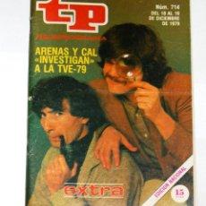 Coleccionismo de Revista Teleprograma: TP TELEPROGRAMA Nº714- DICIEMBRE 1979. EXTRA.. Lote 43267172