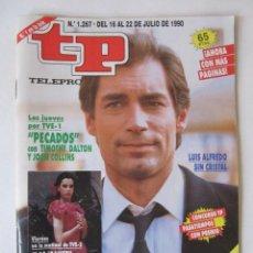 Coleccionismo de Revista Teleprograma: TP TELEPROGRAMA Nº 1267 - DEL 16 AL 22 DE JULIO DE 1990 - LUIS ALFREDO (TELENOVELA CRISTAL). Lote 43643649