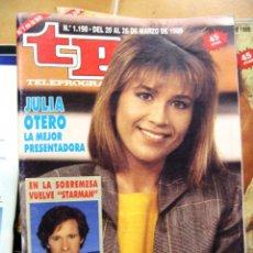 Coleccionismo de Revista Teleprograma: TP Nº 1198 DE MARZO DE 1989 JULIA OTERO. Lote 43701097
