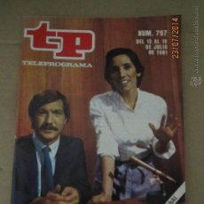 Coleccionismo de Revista Teleprograma: ANTIGUO TP TELEPROGRAMA Nº 797 - AÑO 1981 CON REPORTAJE DE VICTORIA PREGO EN AL CIERRE. Lote 44418238