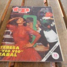 Collectionnisme de Magazine Teleprograma: REVISTA TELEPROGRAMA TP AÑO 1980 Nº 767 TERESA RABAL. Lote 45418788