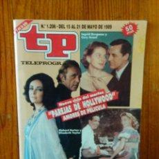 Coleccionismo de Revista Teleprograma: TP TELEPROGRAMA Nº 1206, DE MAYO 1989. CICLO PAREJAS DE HOLLYWOOD, AMORES DE PELÍCULA. BUEN ESTADO. Lote 46991280