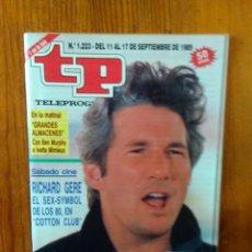 Collectionnisme de Magazine Teleprograma: TP TELEPROGRAMA Nº 1223, DE SEPTIEMBRE 1989. RICHARD GERE, EN 'COTTON CLUB'. BUEN ESTADO. Lote 46991824