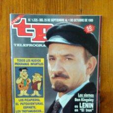 Collectionnisme de Magazine Teleprograma: TP TELEPROGRAMA Nº 1225, DE SEPTIEMBRE 1989. BEN KINGSLEY ES LENIN EN 'EL TREN'. BUEN ESTADO. Lote 46991888