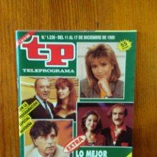 Collectionnisme de Magazine Teleprograma: TP TELEPROGRAMA Nº 1236, DE DICIEMBRE 1989. EXTRA LO MEJOR Y LO PEOR DEL AÑO 89 . BUEN ESTADO. Lote 46992224