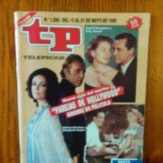 Collectionnisme de Magazine Teleprograma: TP TELEPROGRAMA Nº 1206, DE MAYO 1989. CICLO PAREJAS DE HOLLYWOOD, AMORES DE PELÍCULA. BUEN ESTADO . Lote 47022951