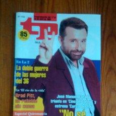 Collectionnisme de Magazine Teleprograma: TP TELEPROGRAMA Nº 1724, DE ABRIL 1999. JOSÉ MANUEL PARADA, 'CURSO DEL 99'. NUEVA, SIN USO. Lote 47291723
