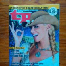 Coleccionismo de Revista Teleprograma: TP TELEPROGRAMA Nº 1936, DE MAYO 2003. PAULA VÁZQUEZ, 'LA ISLA DE LOS FAMOSOS'. MUY BUEN ESTADO. Lote 47350037