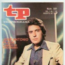 Coleccionismo de Revista Teleprograma: TP - TELEPROGRAMA - 1977 - JOSÉ ANTONIO PLAZA. Lote 47619988