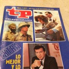 Coleccionismo de Revista Teleprograma: TP TELEPROGRAMA NÚM. 1027 - DEL 9 AL 15 DE DICIEMBRE DE 1985 - EXTRA LO MEJOR Y LO PEOR DEL AÑO. Lote 48435627