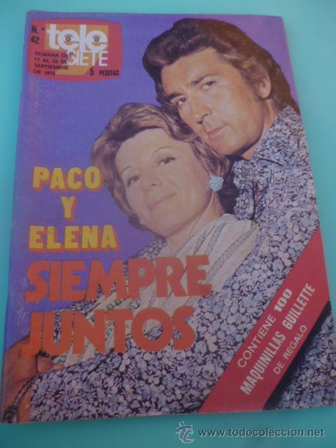 REVISTA TELE SIETE TELESIETE N 42 TELEPROGRAMA AÑOS 70 (Coleccionismo - Revistas y Periódicos Modernos (a partir de 1.940) - Revista TP ( Teleprograma ))