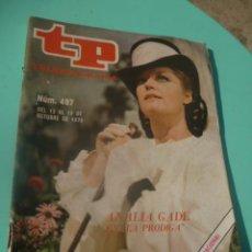 Coleccionismo de Revista Teleprograma: REVISTA TP TELEPROGRAMA N 497. Lote 49220054