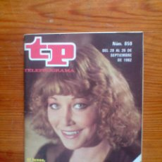 Coleccionismo de Revista Teleprograma: TP TELEPROGRAMA Nº 859, DE SEPTIEMBRE 1982. BLANCA ESTRADA. BUEN ESTADO. Lote 49676939