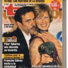Coleccionismo de Revista Teleprograma: TP. TELEPROGRAMA. Nº 1869. DEL 28 ENERO AL 3 FEBRERO 2002. . (P/B1). Lote 50794717