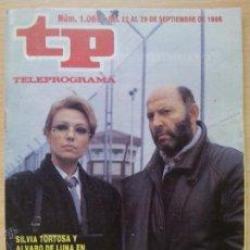 Coleccionismo de Revista Teleprograma: TP TELEPROGRAMA 1068 RÉGIMEN ABIERTO - ÁLVARO DE LUNA, SILVIA TORTOSA (1986). Lote 50797824