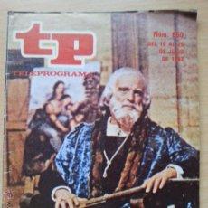Coleccionismo de Revista Teleprograma: TP TELEPROGRAMA 850 LEONARDO DA VINCI - PHILIPPE LEROY (1982). Lote 50811649