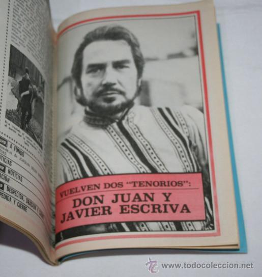 Coleccionismo de Revista Teleprograma: TELEPROGRAMA Nº 556 DON JUAN ESCRIVA, DICIEMBRE DE 1976, SIN TAPAS, REVISTA ANTIGUA - 2ª - Foto 2 - 51740230