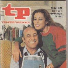 Coleccionismo de Revista Teleprograma: REVISTA TP TELEPROGRAMA Nº 826 AÑO 1982. DIALOGOS DE MATRIMONIO.. Lote 52416167