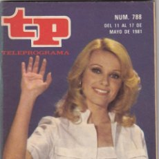 Coleccionismo de Revista Teleprograma: REVISTA TP TELEPROGRAMA Nº 788 AÑO 1982. SILVIA ADIOS. . Lote 52416898