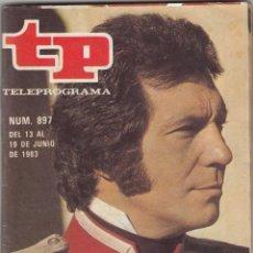 Coleccionismo de Revista Teleprograma: REVISTA TP TELEPROGRAMA Nº 897 AÑO 1983. SANCHO GRACIA.. Lote 52416936