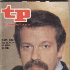 Coleccionismo de Revista Teleprograma: REVISTA TP TELEPROGRAMA Nº 840 AÑO 1982. IÑIGO O CINE. . Lote 52504239