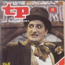 Coleccionismo de Revista Teleprograma: REVISTA TP TELEPROGRAMANº 1140 AÑO 1988. VIAJE CON GURRUCHAGA.. Lote 52706909
