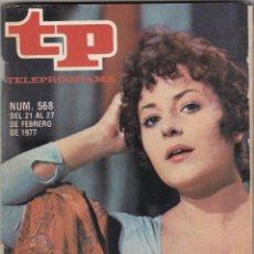 Coleccionismo de Revista Teleprograma: REVISTA TP TELEPROGRAMA Nº 568 AÑO 1977. MARISA MASSIP.. Lote 52710664